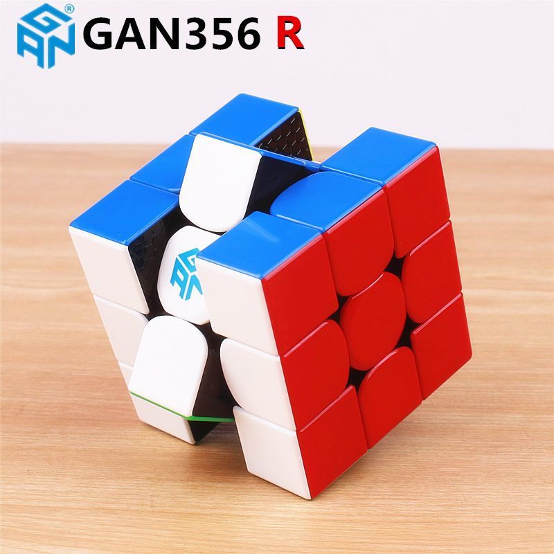 GAN356 R 3x3x3 magic speed cube stickerless professional gan 356R puzzle cubes educational toys for children gan 356 R