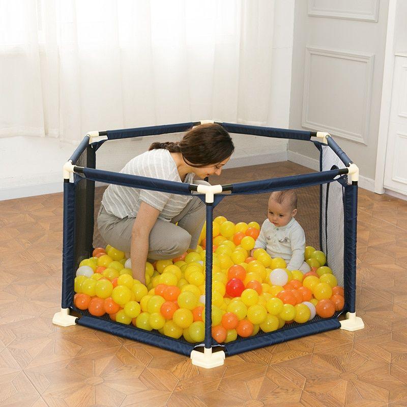 Infant Shining Baby Playpen Portable Plastic Fencing For Children Folding Baby Safety Fence Barriers For Securitis Ball Pool