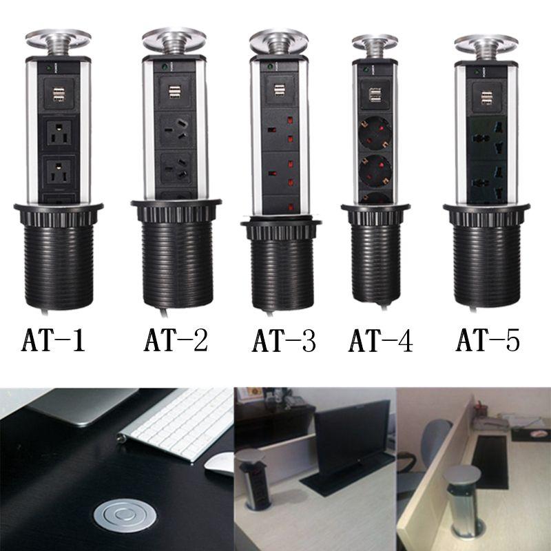 Prise de bureau Comptoir De Cuisine Point Pull Rétractable USB Chargeur Prise/Orvibo/Bureau Laboratoire De Sortie De Bureau Sur La Maison Table