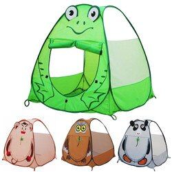 Foldable Cartoon Animal Children Tent Frog Monkey Owl Panda Baby Game Playhouse Ball Pool Indoor Outdoor Picnic Tent For Kids