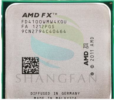 AMD FX4100 FX 4100 3,2 GHz Quad-Core CPU Prozessor FD4100WMW4KGU 95 Watt Sockel AM3 +