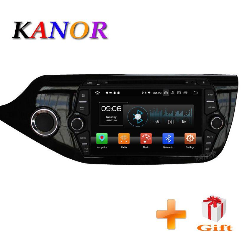 KANOR Android 8.0 IPS Octa core 4+32g Car GPS Multimedia Player For KIA Ceed 2013 2014 2015 Audio Radio Headunit Bluetooth
