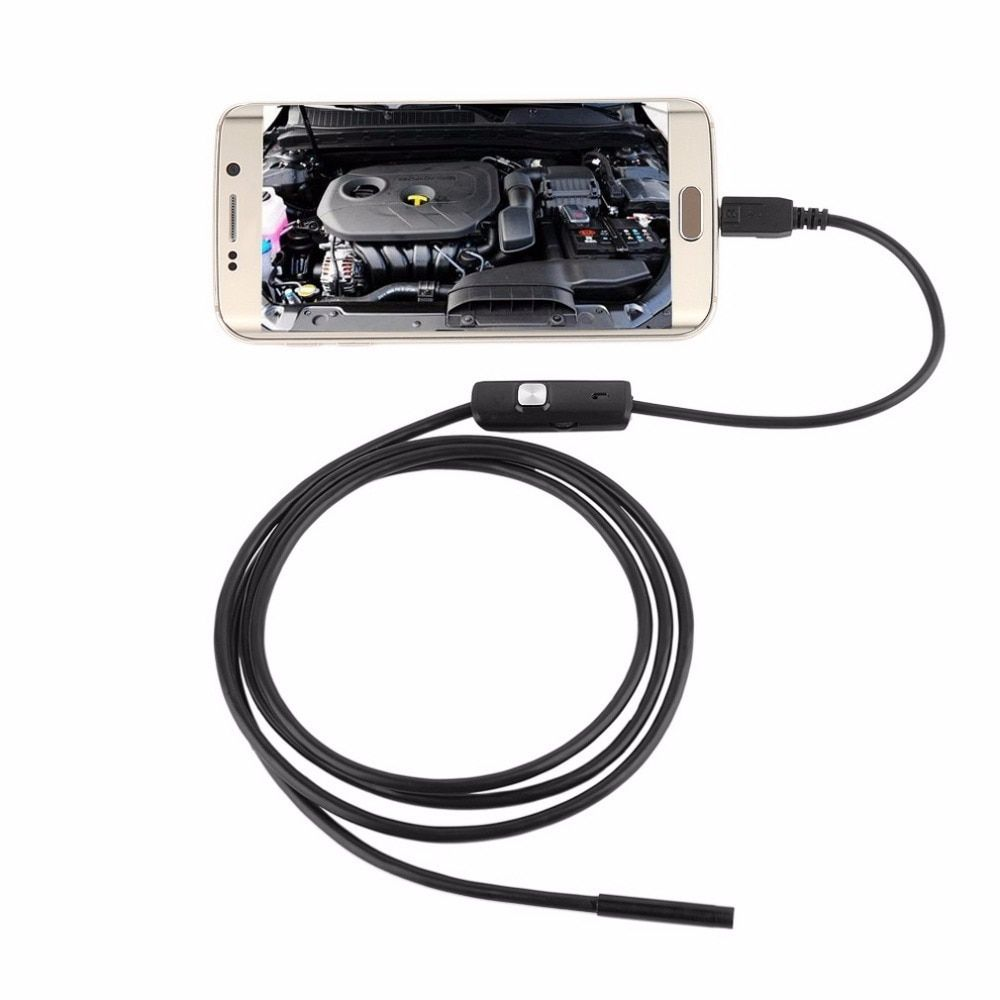 LESHP 6 LED 7mm Objektiv Kabel Wasserdichte Mini USB Inspektion Endoskop Kamera Für Android Endoskop 640*480 Handys/1280*720 PC