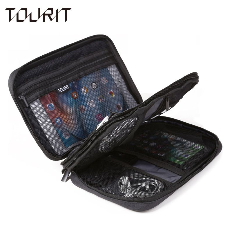TOURIT Electronic Accessories Bag Nylon Mens Travel Accessories For Date Line SD Card USB Cable Digital Device Bag Accessories
