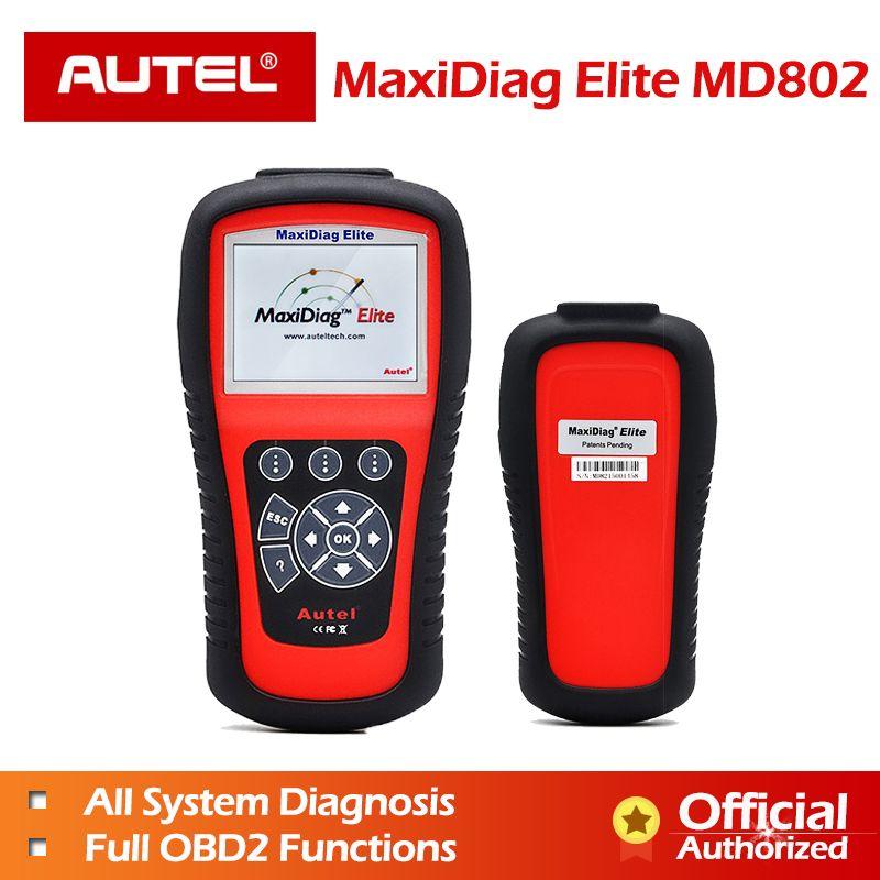 AUTEL MaxiDiag Elite MD802 Alle system + DS modell Auto Scanner Full System Diagnosen für ABS/SRS/Motor /übertragung/EPB/Öl Reset