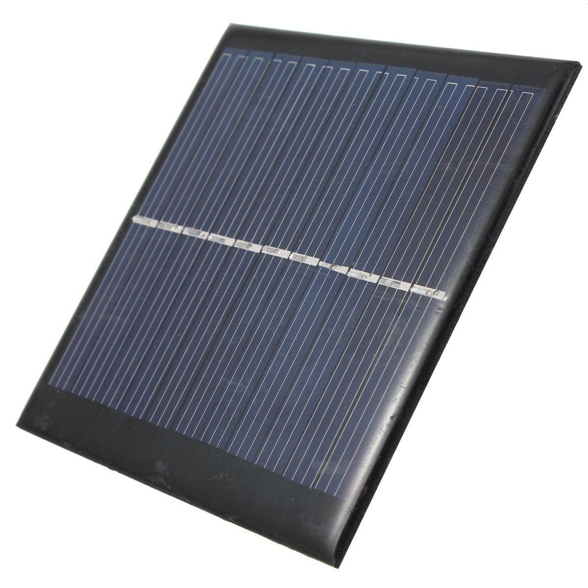 Hohe qualität Universal 5,5 V 1 Watt 180mA Polykristallines Silizium Solar-panel-modul DIY Ladegerät für Lade Handys DC Batterie