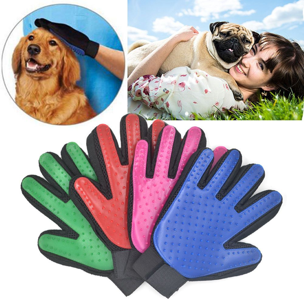 Pet Brush Glove Hair Removal Cat Grooming Massage Bath Brush Magic Gentle Efficient Groomer Dogs Combs Pet Cleaning Supplies