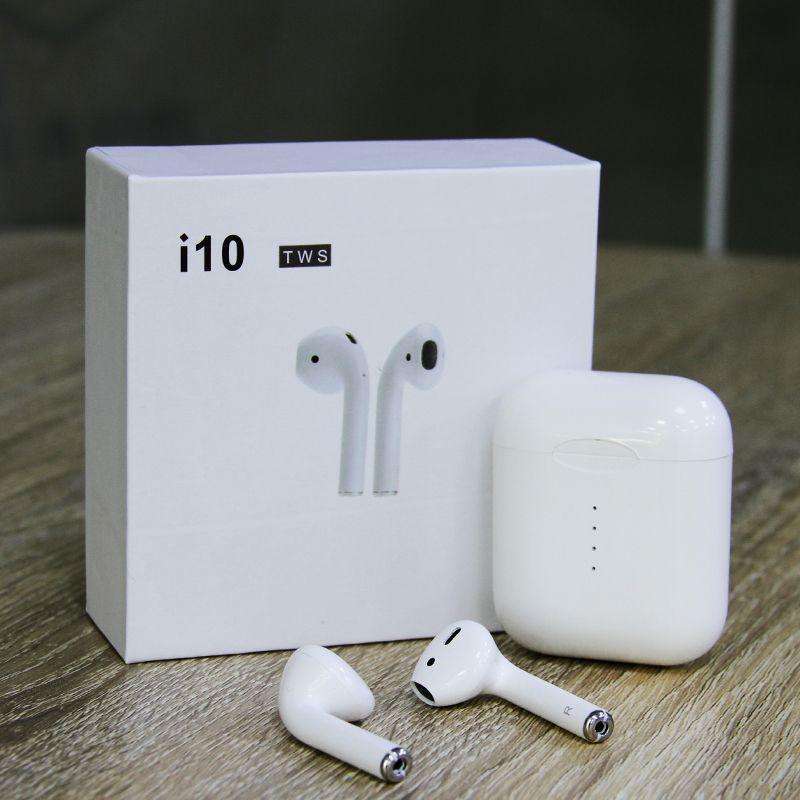 Original New Handsfree Headphone Mini i10 i9s i12 TWS Q32 Earphone Latest 5.0 True Wireless Earbuds 2-3Hours Play Time i10 tws