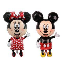 112 cm gigante Mickey Minnie Mouse dibujos animados globo cumpleaños fiesta decoraciones niños bebé ducha partido juguetes globo