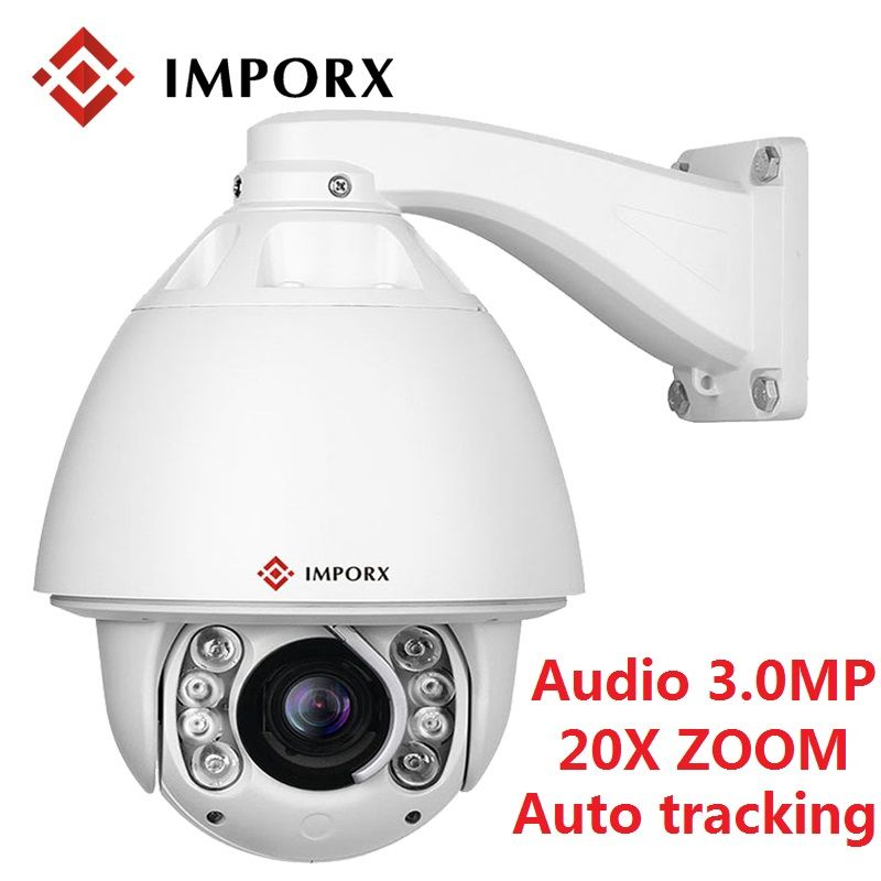 IMPORX 3.0MP 1080 P Outdoor PTZ IP Kamera Auto Tracking Audio 20X Digital Zoom Netzwerk CCTV Überwachung Motion Erkennung Kamera