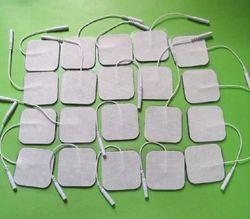 20 unids/lote electrodos TENS electrodos para decenas digital terapia máquina masaje 5x5 cm estimulador de nervio con 2 MM enchufe