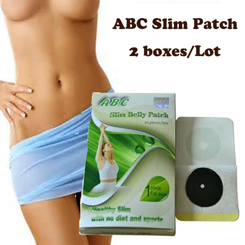 (2 boxes) ABC Slimming belly patch Slimming Navel Sticker Slim Patch Weight <font><b>Loss</b></font> Burning fat fast
