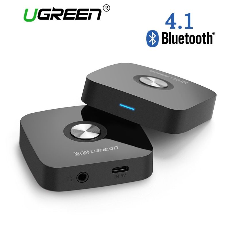 Ugreen 4.1 Wireless Bluetooth Receiver 3.5MM Aux receiver Audio Stereo Music Receiver Bluetooth Audio Adapter Car Aux Receiver