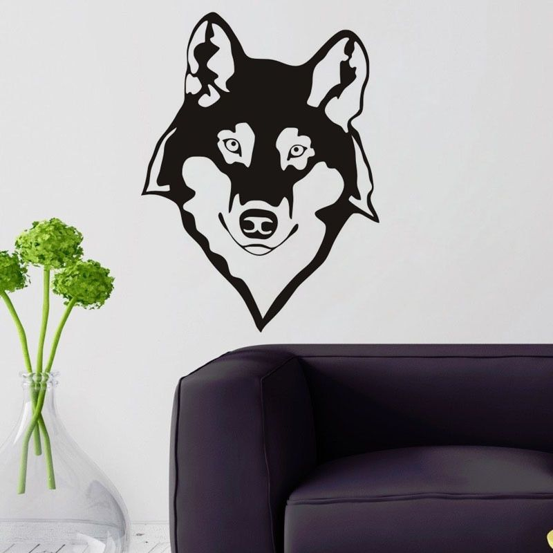 Hot sale New Cartoon Grim Wolf Sticker for children's room Sticker Decoration Fluorescent Living Room Home Decoration