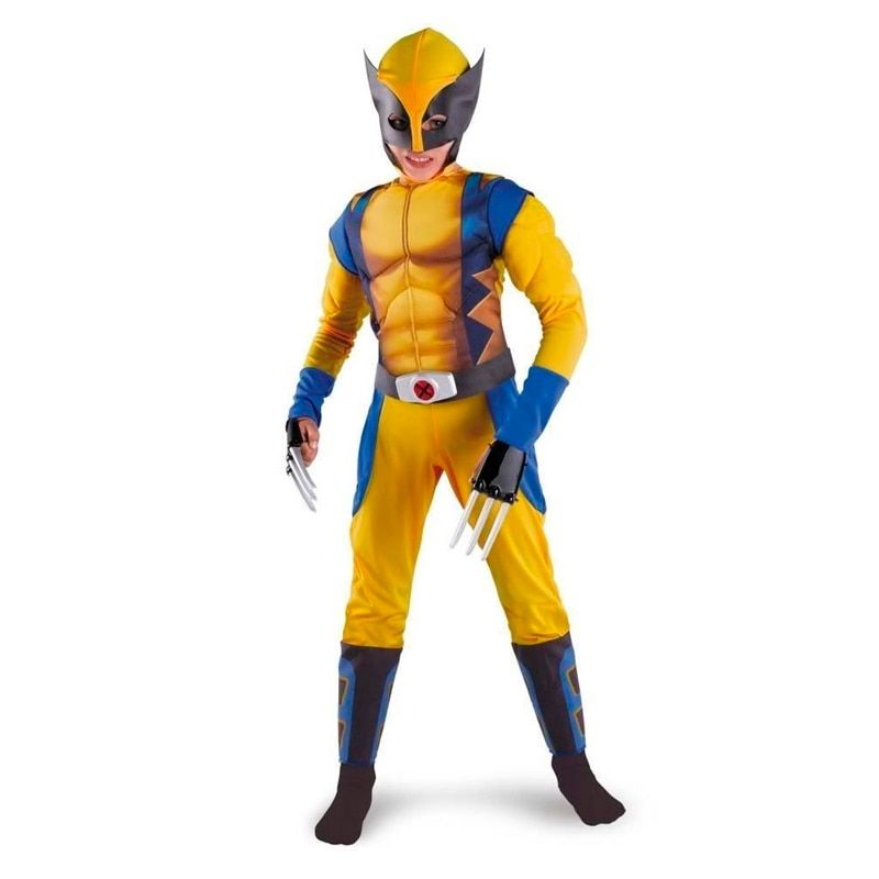 <font><b>Promotion</b></font> Boys X-man Logan Origins Marvel Superhero Halloween Costumes Kids Carnival Party Performance Cosplay Clothing