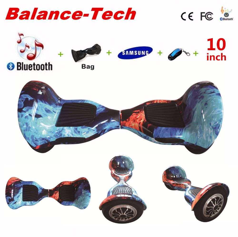 Free Tax Gyroscooter 10 inch Hoverboard Self Balance Scooters Samsung Battery 2 Wheels Smart Electric Skateboard with Remote/Bag
