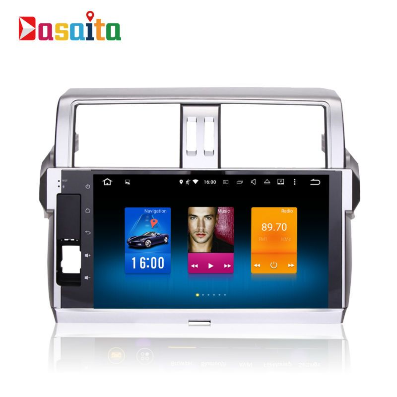Car 2din android GPS for Toyota Prado 150 2014+ autoradio navigation head unit multimedia 4Gb+32Gb 64bit Android 8.0 PX5 8-Core