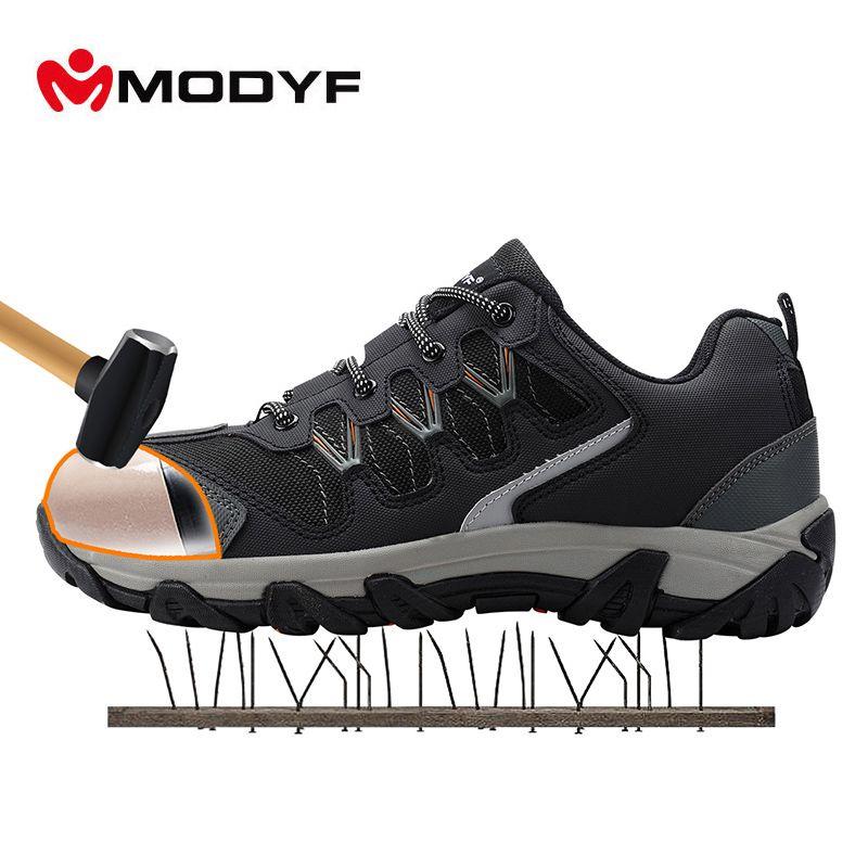Modyf hommes acier embout chaussures de sécurité au travail casual réfléchissant respirant en plein air baskets bottes ponction preuve protection chaussures