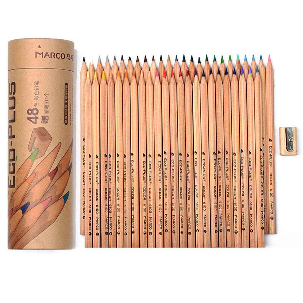 Ensemble De crayons De couleur bois 24/48 couleurs Lapis De Cor artiste peinture à l'huile crayon De couleur pour l'école dessin croquis Art fournitures