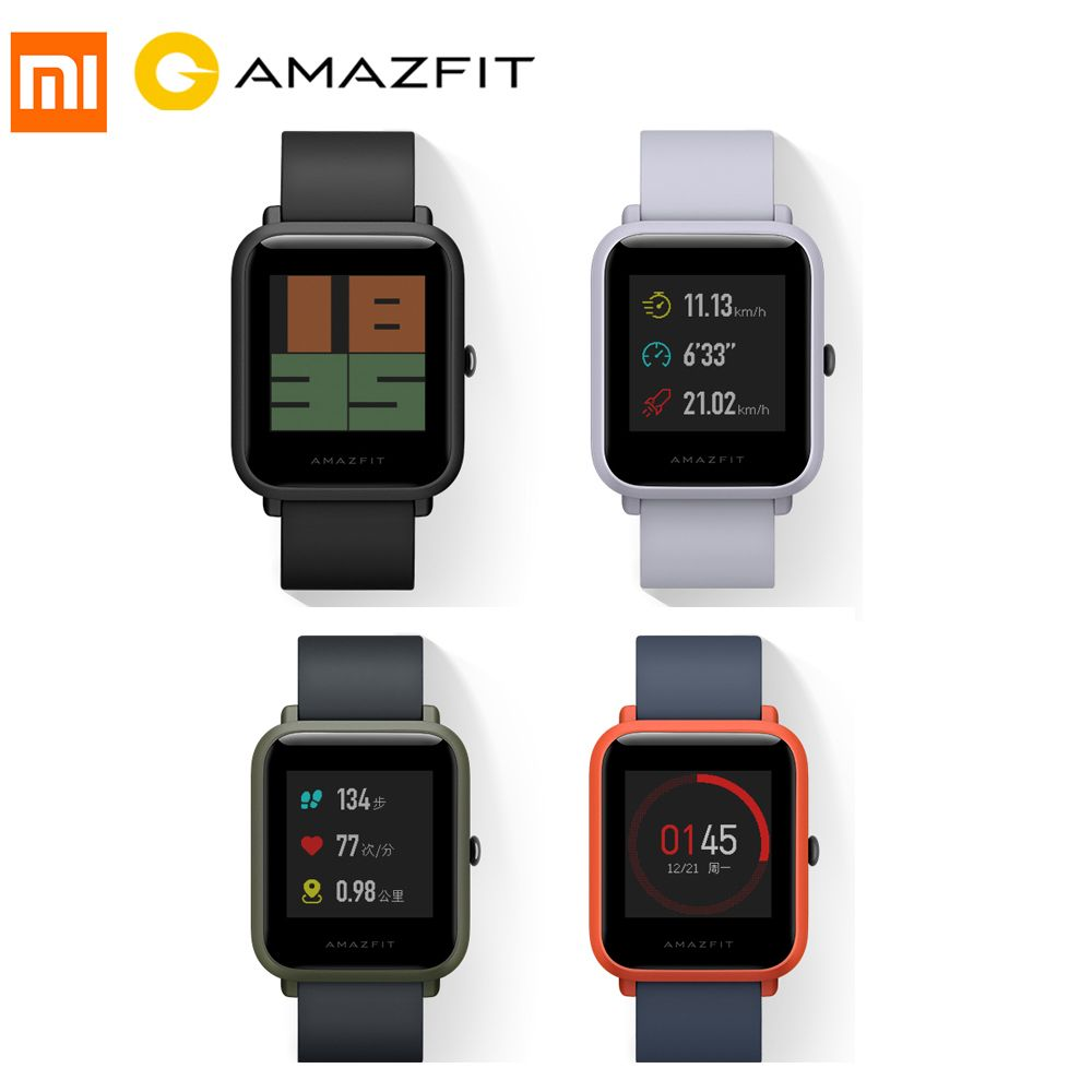Xiaomi Huami Amazfit Pace Bip BIT Youth Version Sports Smart Watch GPS Tracker 45 Days StandyTime Heart Rate Smart Wristband #C0