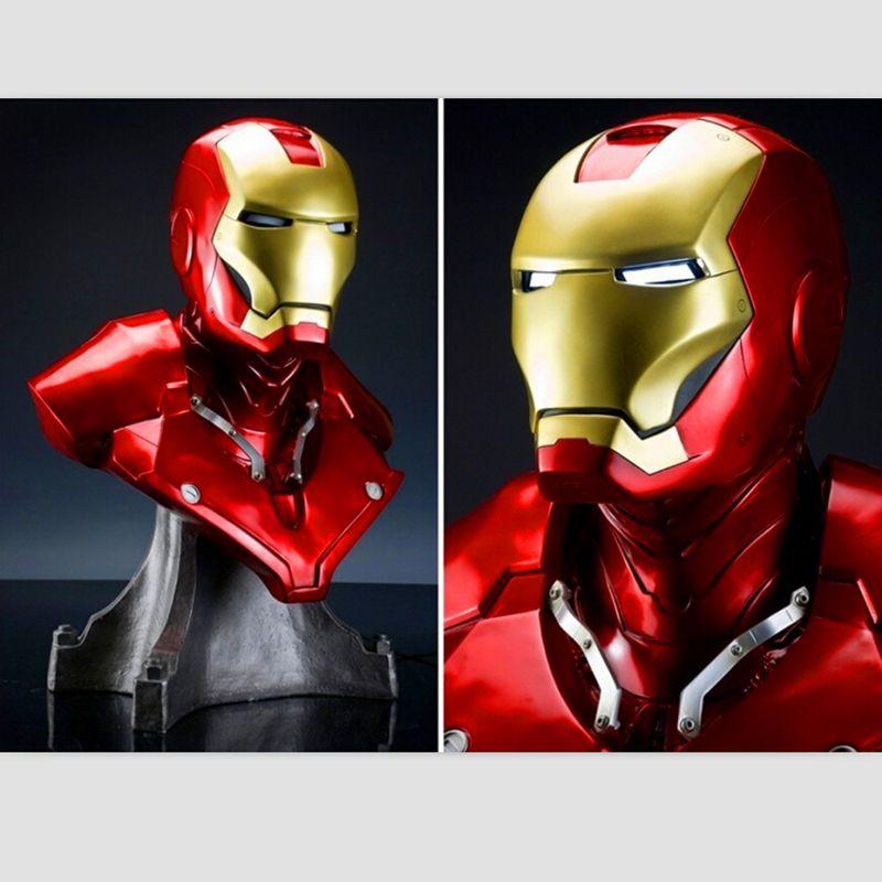 Iron Man Mk3 Mark3 Lifte Taille 1/1 Buste Statue Échelle Tony Strak Avengers Refonte Fer Homme Buste Action Figure Collection modèle