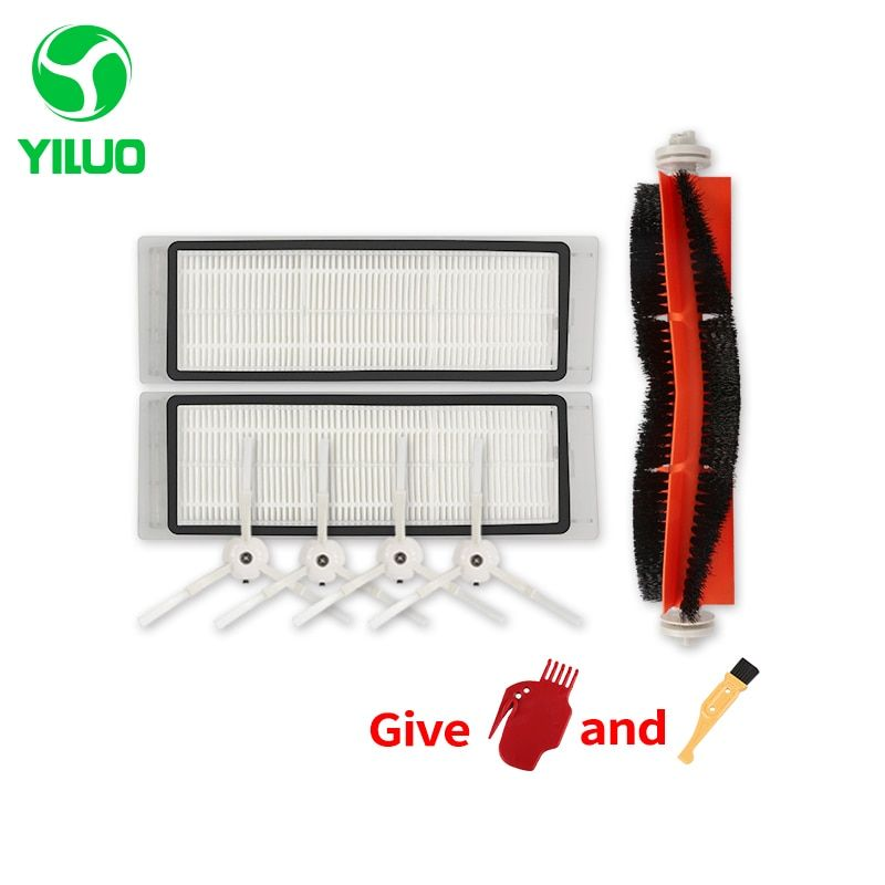 1 set Vacuum Part Pack Spare Parts HEPA Filter, Main Brush, Cleaning Tool, Side Brush for Xiaomi Mijia and roborock Vacuum