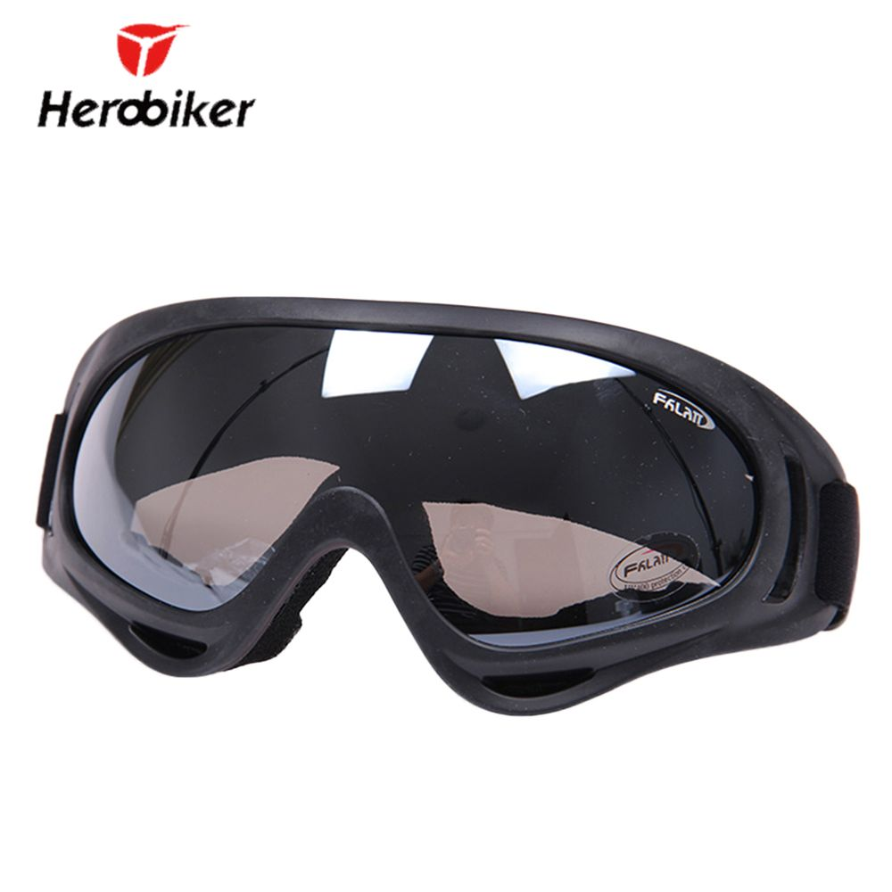 HEROBIKER Outdoor Motorcycle Goggles Ski Snowboard Airsoft Paintball Protective Glasses Motocross Off-Road Riding UV400 Eyewear