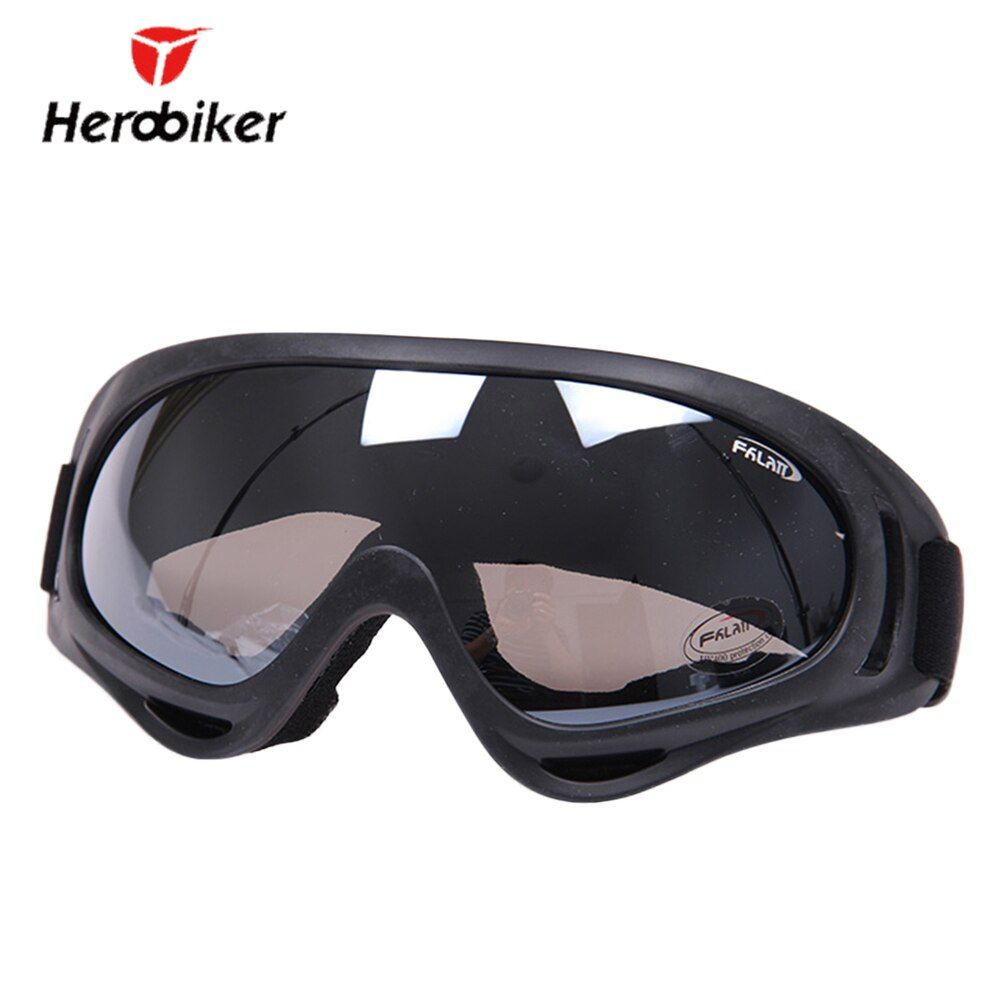 HEROBIKER Outdoor Ski Snowboard Airsoft Paintball Protective Glasses Motocross Off-Road Motorcycle Riding UV400 Goggles Eyewear
