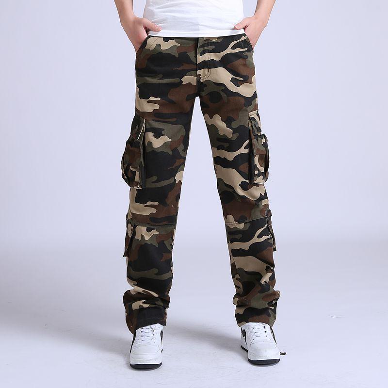 2017 Pantalon cargo pour Homme tactique lâche Camouflage Armée militaire Pantalon hommes Coton Pantalon Homme Pantalon Homme Pantalon de Combat taille 42