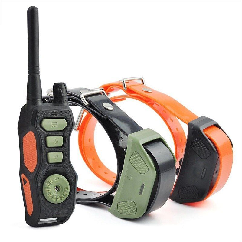 PET618 Remote Dog Training Collar up to 880 yards Static Shock Vibration Tone Waterproof Rechargeable 8 Levels for 1/2/3 dogs