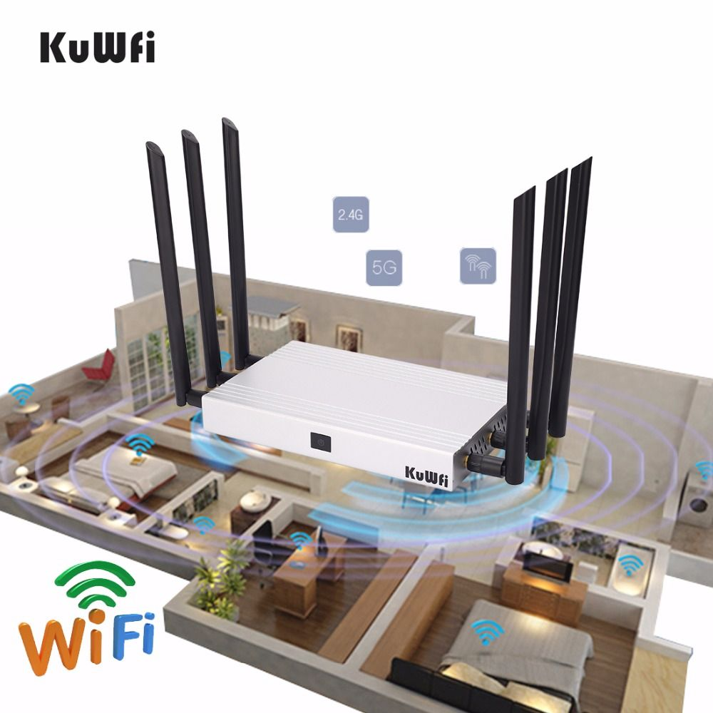 1200Mbps 11AC Dual Bnad Gigabit Wireless Router Multi Function Through Wall WiFi Repeater AP Router High Gain Support 128 Users