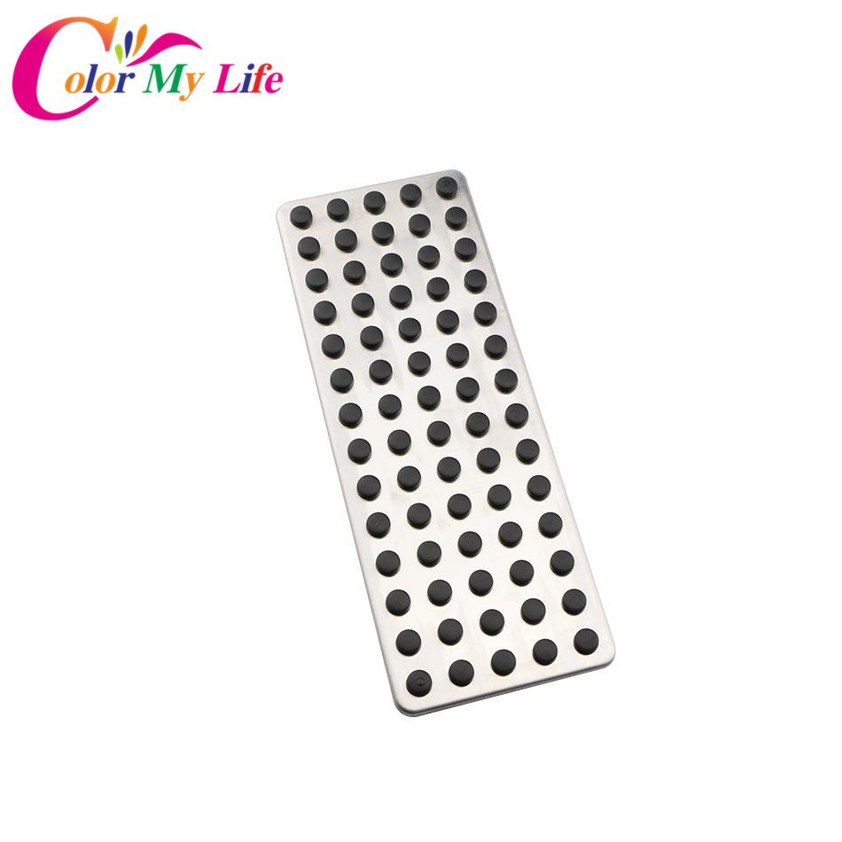 Color My Life 1 Piece Foot Rest No Drilling Footrest Dead Pedal Pad Cover for Benz LHD A B C E S CLS SLK CLA GLA GLC GLK ML G GL