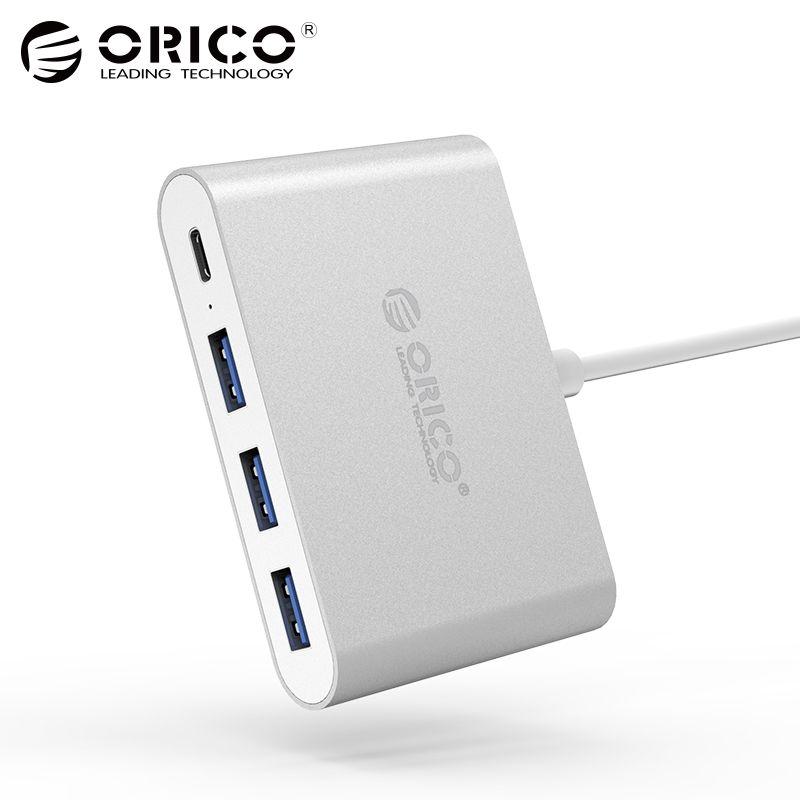 ORICO Aluminium Typ-C zu USB PD Lade HUB USB3.1 Gen1 5 Gbps High Speed Aluminium
