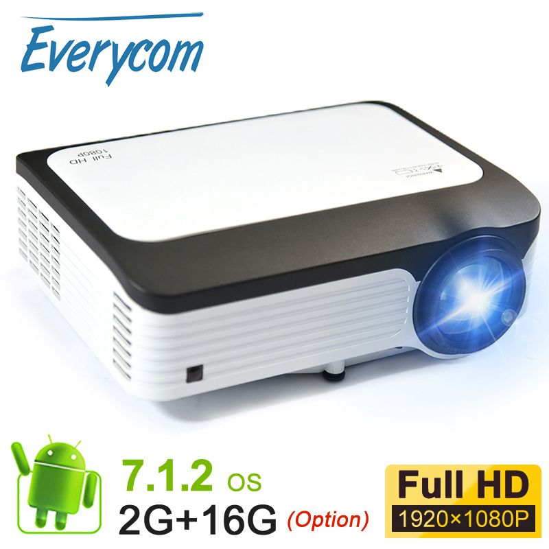 Everycom Volle HD 1080 P Tragbare LED Projektor 5000 Lumen LCD Video Projecteur Smart Android WIFI Projetor Für Iphone SmartPhone
