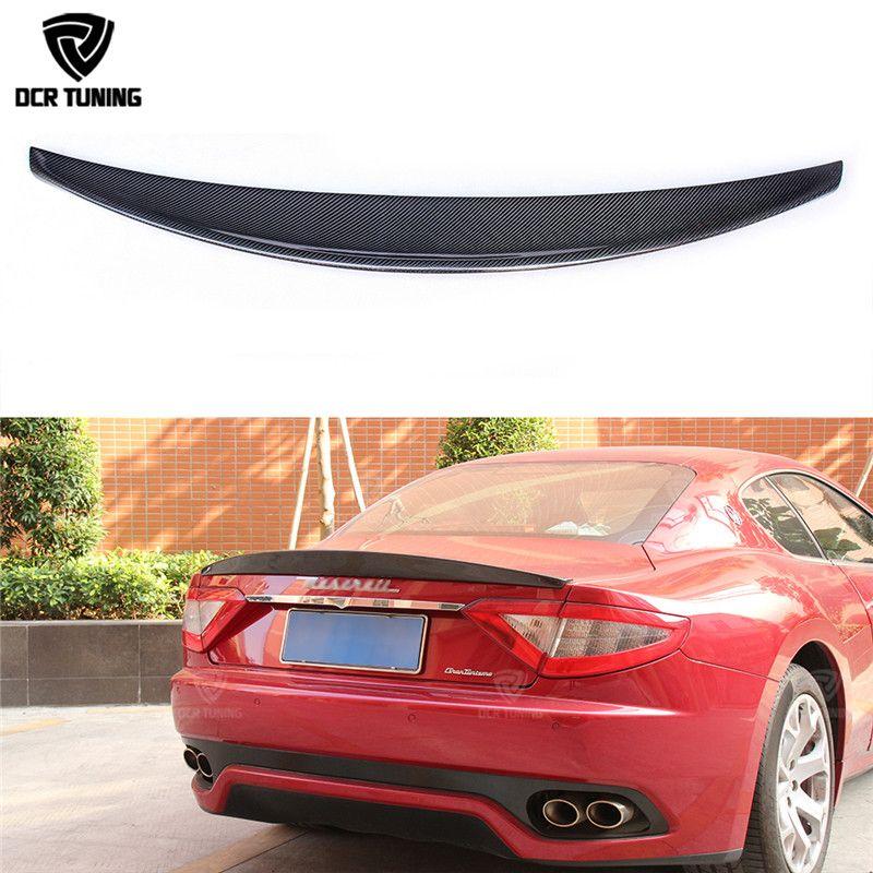 Carbon Fiber Rear Trunk Spoiler Lip For Maserati Gran Turismo GT Carbon Spoiler 2007 - UP