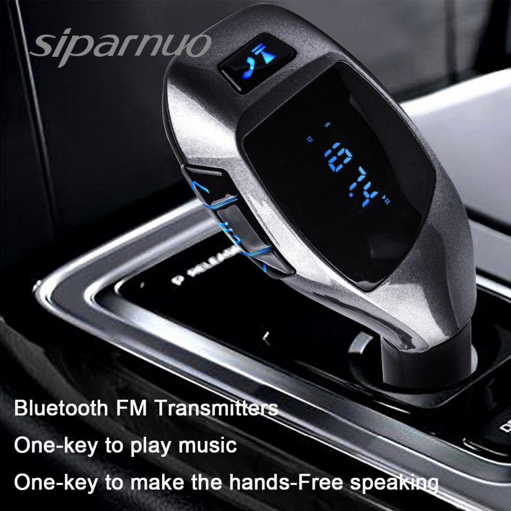 Siparnuo X5 Kit voiture Bluetooth lecteur MP3 voiture transmetteur Bluetooth FM avec casque transmetteur FM téléphone transmission Bluetooth