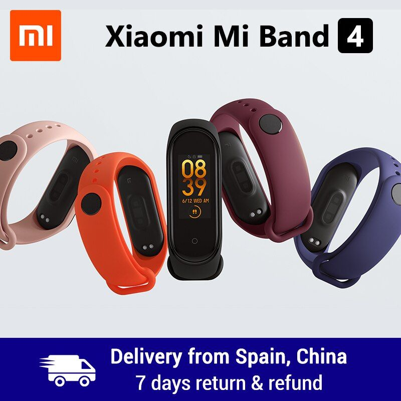 Xiao mi bande 4 bande intelligente 0.95 pouces AMOLED 120X240 écran couleur Bluetooth 5.0 Bracelet 50m étanche Bracelet intelligent
