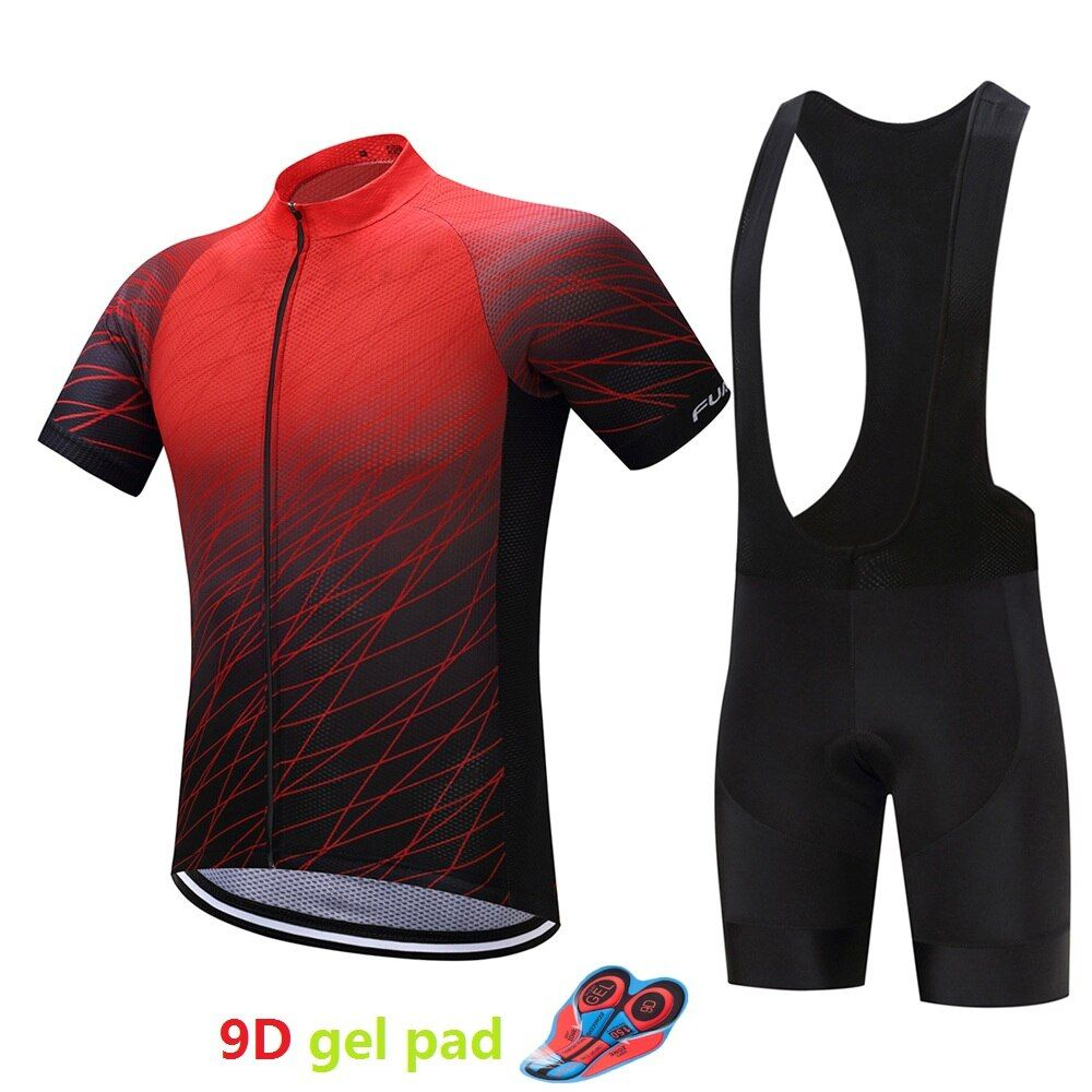 Breathable cycling jersey set men's 9D gel pad bicycle clothing maillot mtb 2018 mountain bike clothes outdoor kit sport wear