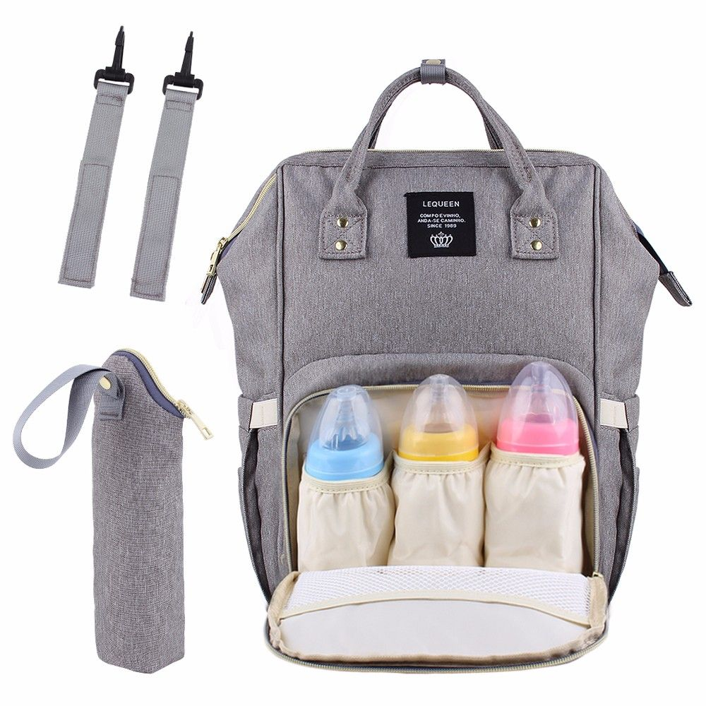 USB Interface Large Capacity Waterproof Nappy Diaper Bags Upgrade Fashion Travel Backpack Waterproof Maternity Bag Mummy Bags
