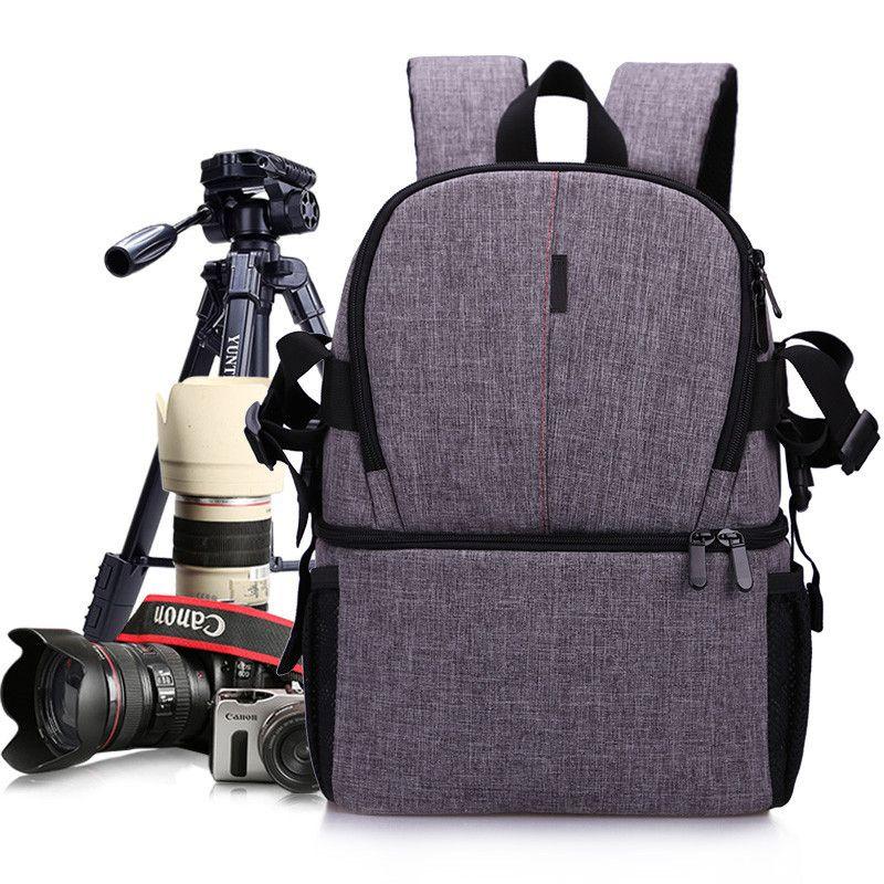 Camera DSLR Waterproof Oxford Backpack Soft Padded Shoulders Bag Tripod Case for Canon Nikon Sony DSLR