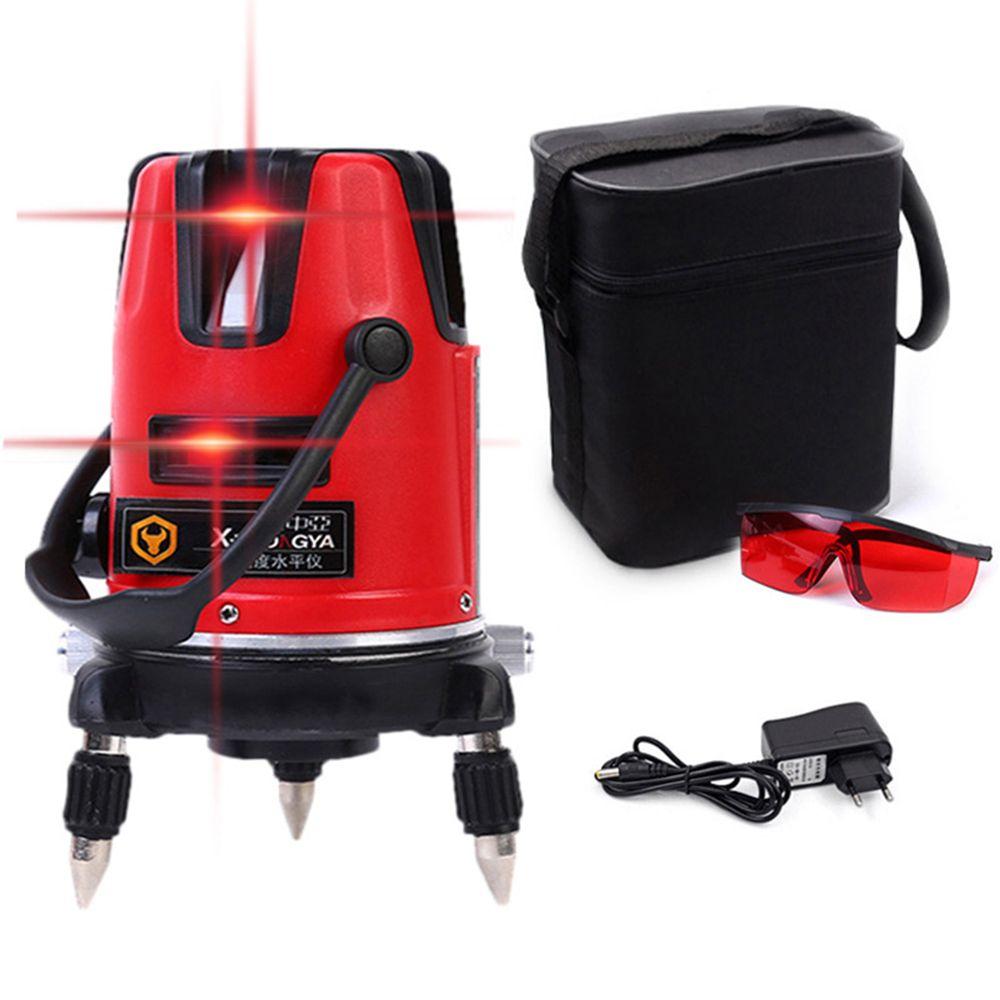 SPY001 5 lignes Laser rouge niveau rotatif Laser 360 Autonivelante 6 Laser optique 3D poziomica laserowa pour outil de construction