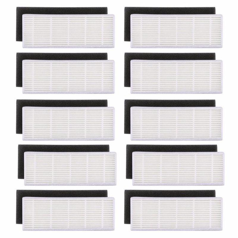 20 pcs/lot HEPA filtre & Éponge Filtres remplacements pour ilife A4s A6 A4 A40 poussière de nettoyage filtre aspirateur accessoires