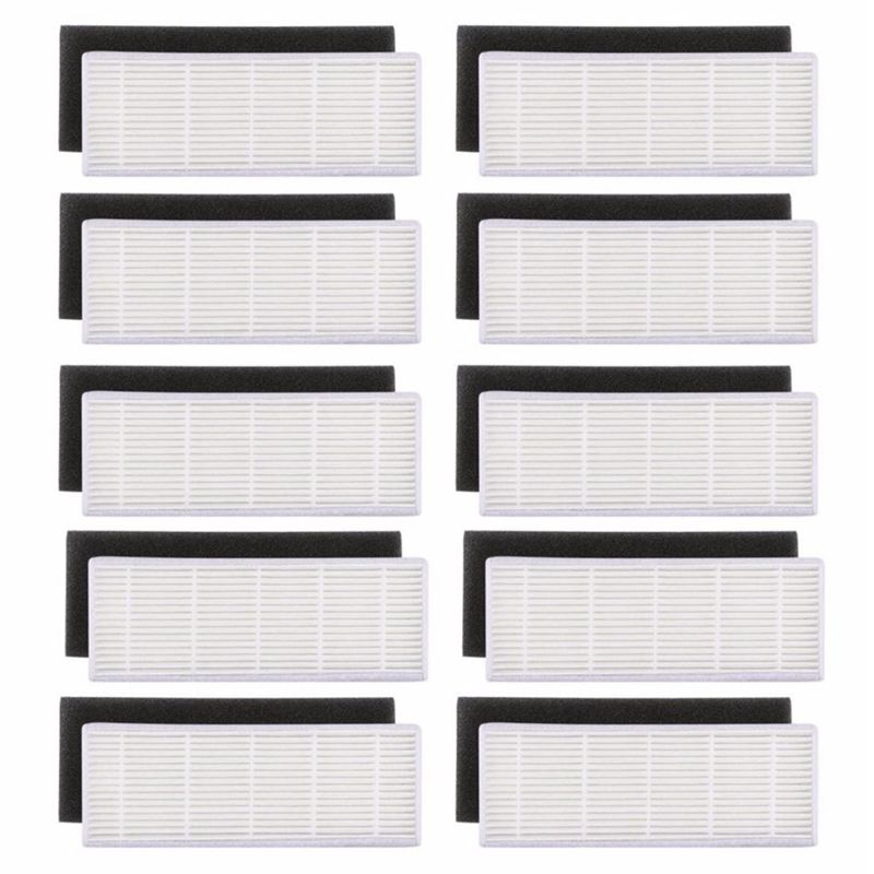 20 pcs/lot filtre HEPA & eponge filtres remplacements pour ilife A4s A6 A4 A40 filtre de nettoyage de la poussière accessoires aspirateur