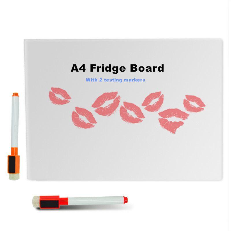 Tableau blanc magnétique Flexible effaçable à sec A4/tableau de Message/bloc-notes/boîte de dialogue aimant/tableau blanc magnétique avec 2 marqueurs effaçables à sec