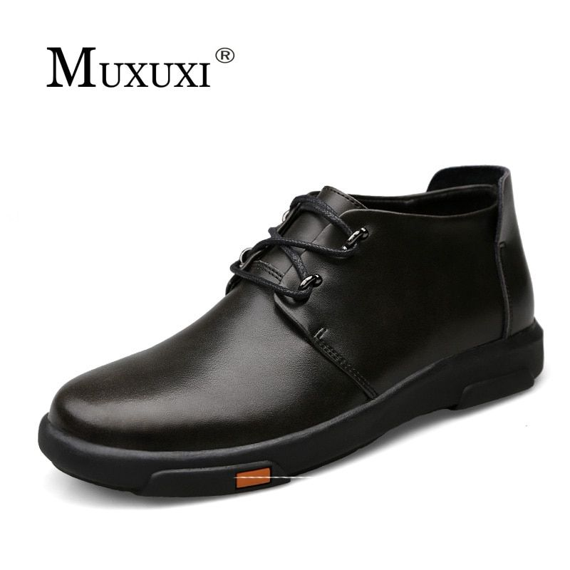 High Quality natural Leather Men Shoes Top Brand Men lace up Comfy Driving Shoes Comfortable Business Casual Shoes for men
