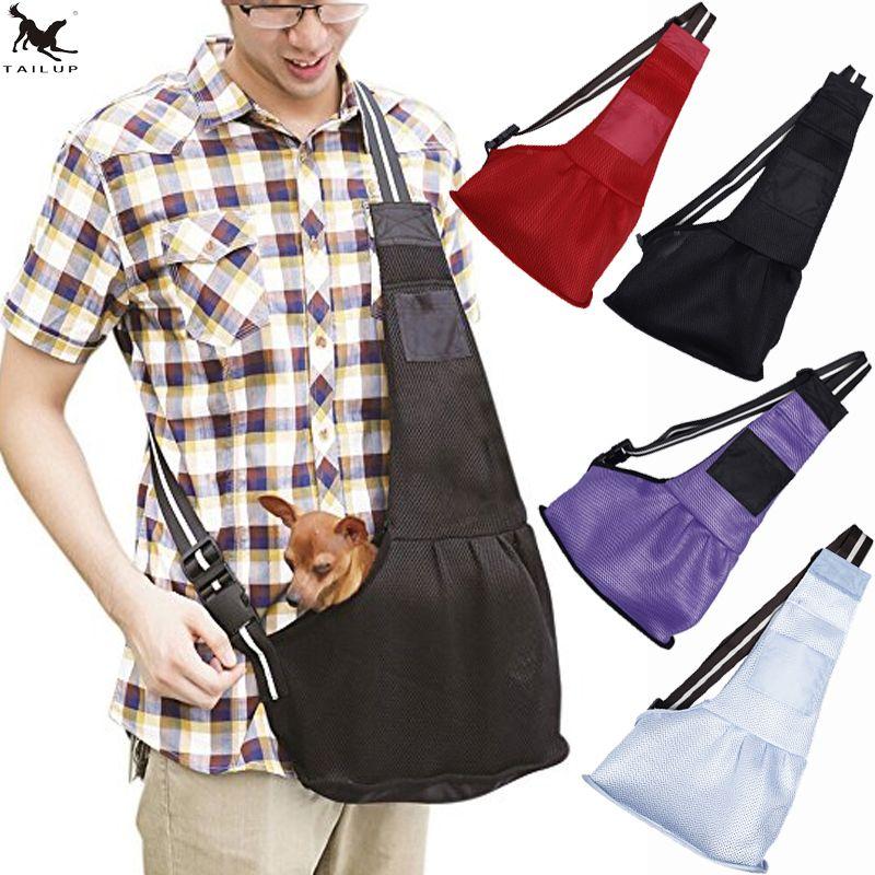 [TAILUP] sac de transport pour animaux de compagnie élingues été sac de transport pour chien de compagnie respirant sac à bandoulière pour petit chien chiot chat sac de voyage PP026