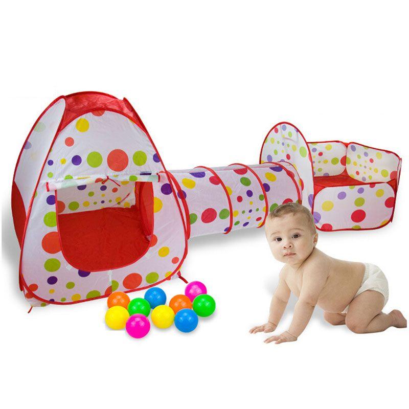 3 dans 1 Clôtures pour Enfants Portable Bébé Parc Enfants Piscine À Balles Pliable Pop Up Tente de Jeu Parc Clôture Tunnel jouer Maison