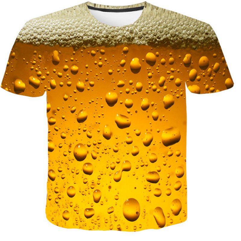 Aliexpress men's Quick dry man Halloween skull beer bubble digital print T-shirt men's wear sport undershirt футболка мужская