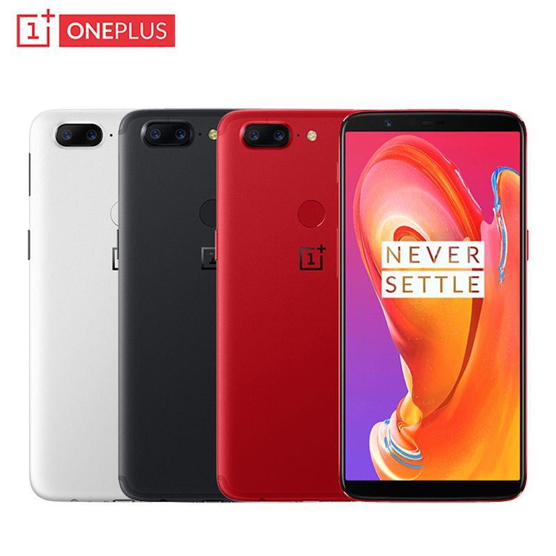 Original OnePlus 5T Cell Phone 6.01 inch 8GB RAM 128GB ROM Snapdragon 835 Octa Core Android 7.1 Dual Back Camera NFC Smartphone