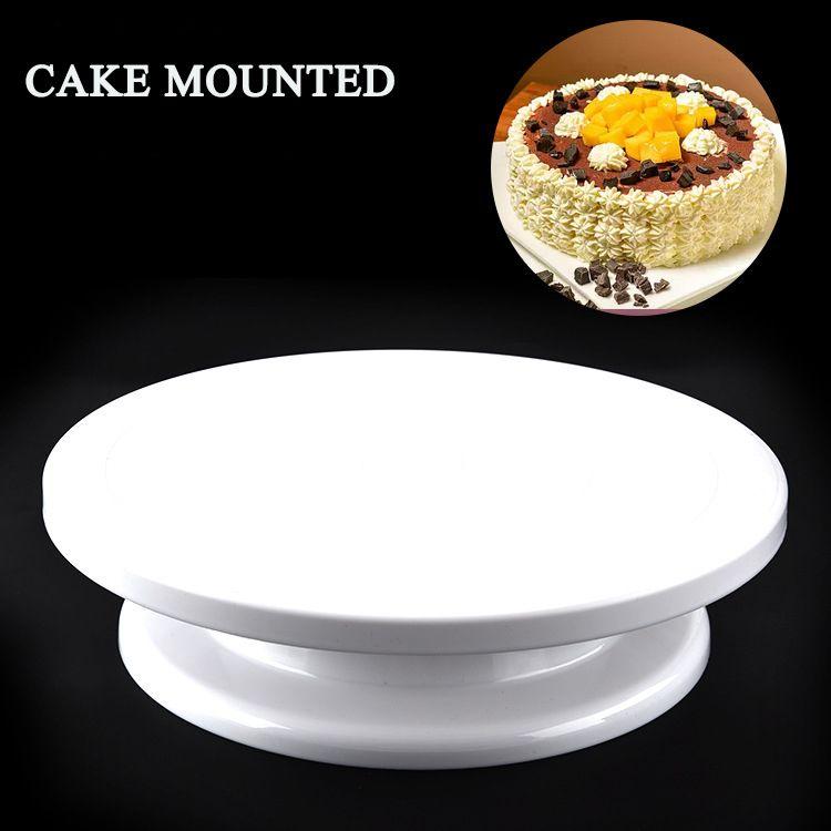 BEEMSK Kunststoff Kuchen Stehen kuchen plattenspieler können manuell drehen runde kunststoff kuchen drehscheibe DIY blume plattenspieler backen werkzeuge